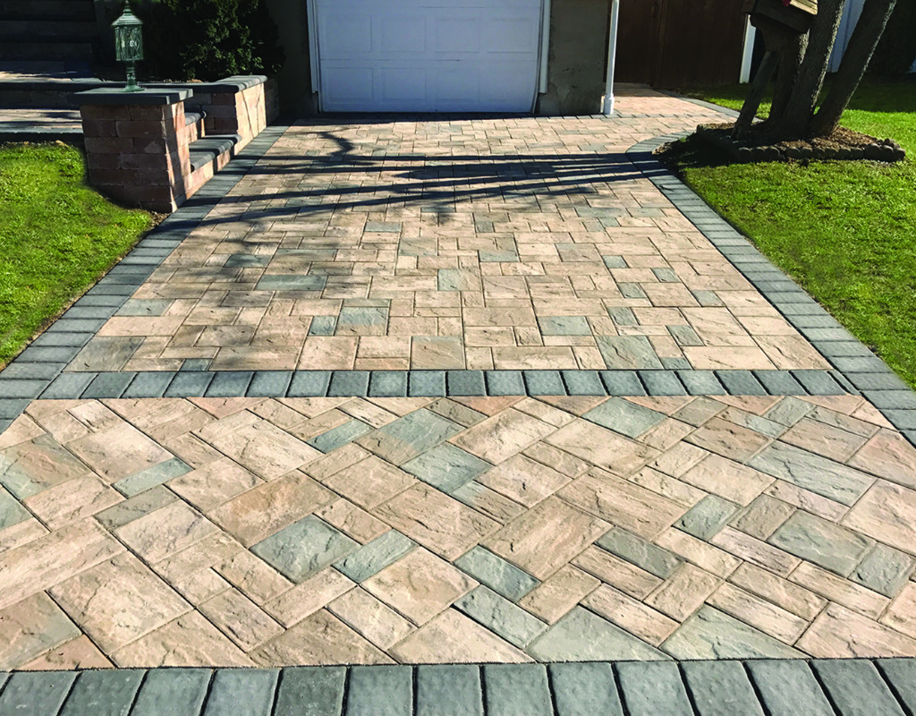 Short driveway paved with stones