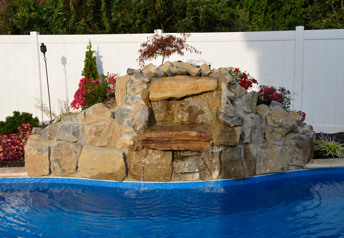 Recirculating Pool Fountain installation long island